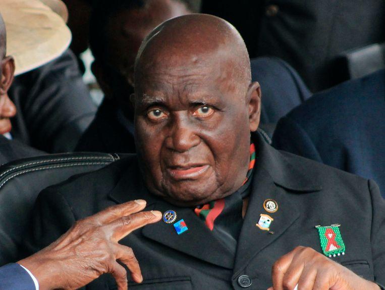 Oud-president van Zambia Kenneth Kaunda. Beeld AP