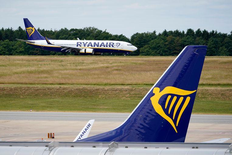 De Ierse lagekostenmaatschappij Ryanair. Beeld EPA