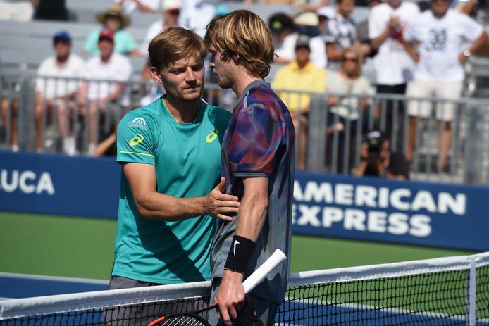 David Goffin et Andrey Rublev se sont croisés une seule fois sur le circuit: c'est le Russe qui s'était imposé, en trois manches, en huitièmes de finale de l'US Open 2017.