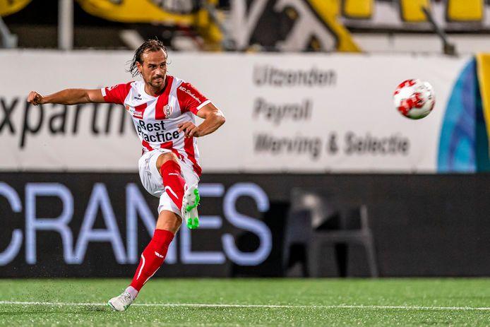 Lars Hutten, hier nog in het shirt van zijn huidige club TOP Oss, speelt na de zomer in Werkendam voor Kozakken Boys.