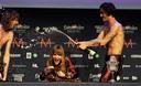 Uitzinnig van vreugde na de winst op het Eurovisie Songfestival