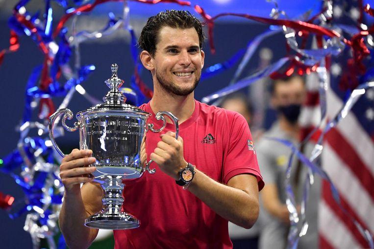 De Oostenrijkse Dominic Thiem wint de US Open nadat hij de Duitser Alexander Zverev verslaat Beeld USA TODAY Sports