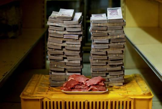 Un kilo de viande = 9.500.000 bolivars = 1,23 euro (août 2018)