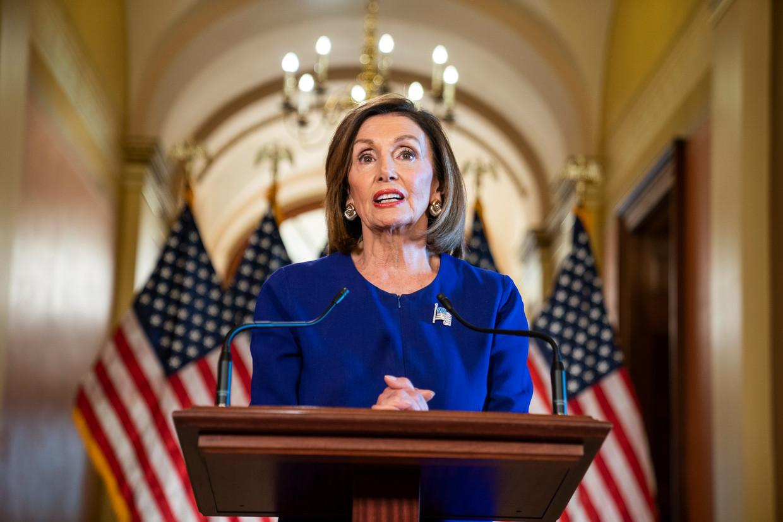 Congresvoorzitter Nancy Pelosi. Beeld EPA
