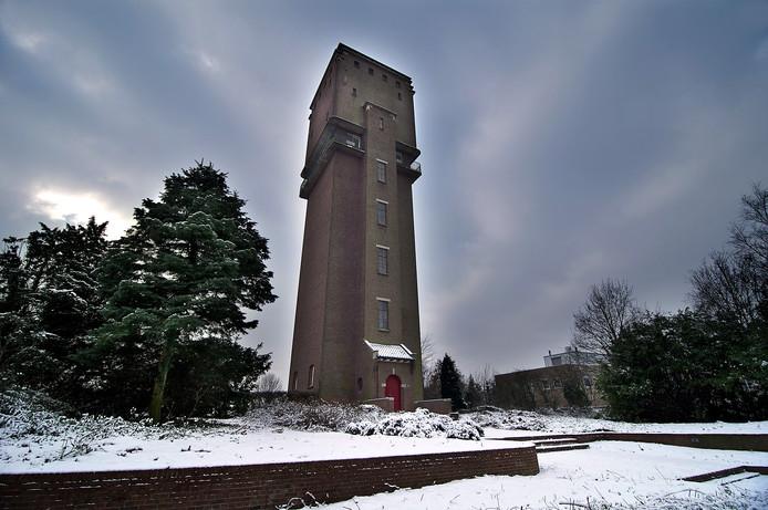 De watertoren tijdens de winter van 2008. Archieffoto: Jan Ruland van den Brink