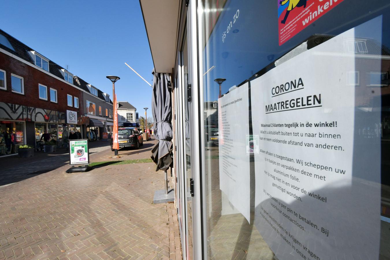 Net zoals overal hebben ook ondernemers in Tubbergen het moeilijk in verband met de coronamaatregelen.