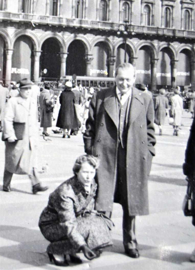 Joop en Lies Piller, circa 1954-1955 in Milaan. Beeld Privéfoto familie Piller