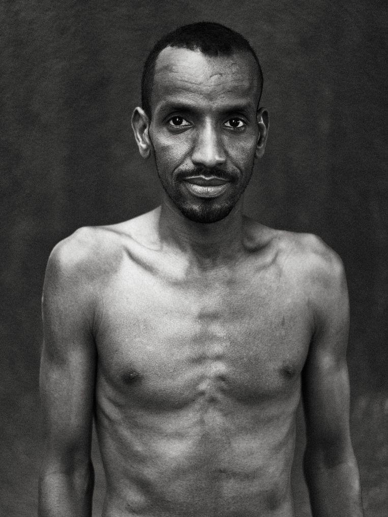 'Online ben ik plots 'die Afrikaan' die de records afpakt van de Echte Vlamingen, maar ik blijf er rustig onder.' Beeld Thomas Sweertvaegher