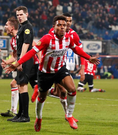 Donyell Malen redt punt voor PSV: 'Deze goal kan heel belangrijk zijn'