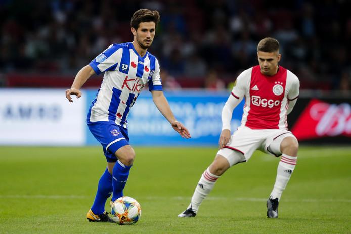 Jordy Bruijn van SC Heerenveen tijdens een eerdere wedstrijd tegen Ajax dit seizoen.