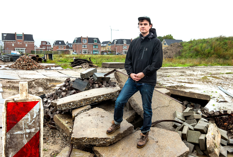 Marius Roelandt is initiatiefnemer om kleinere kavels te laten uitgeven op de rand van het Máximapark, zodat de woningen betaalbaarder worden.