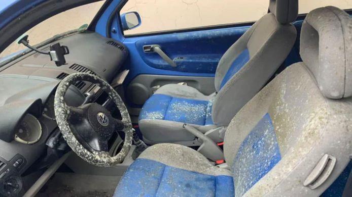 Schimmel-alarm: een inwoner van Hamburg trof zijn auto zo aan toen hij 'm twee maanden buiten had laten staan met geopend raam.