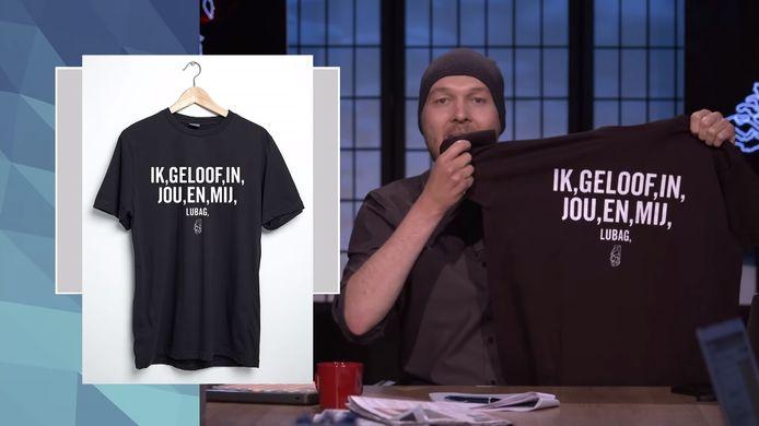 Het shirt dat Arjen Lubach lanceerde.