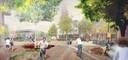 Voorlopige impressie - nog heel pril -  van de nieuwe Heuvel maar dan groen en rustiger. Het echte ontwerp komt er voor de zomer van 2021, na overleg met de stad.