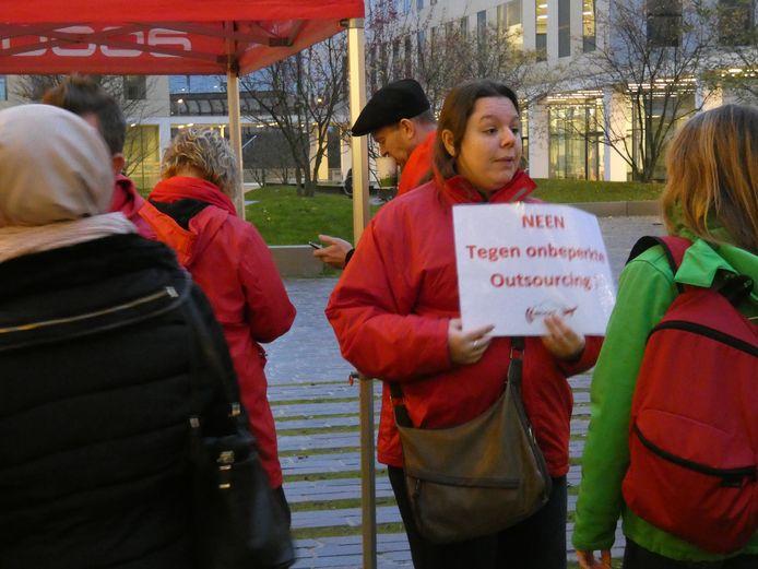 Ook in Antwerpen werd geprotesteerd.