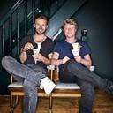 Siem van Bruggen, met zijn compagnon Roderick Heijning winnaar van de AD Friettest 2015