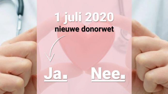 Iedereen die geen toestemming geeft voor orgaandonatie moet dat na de invoering van de nieuwe donorwet zelf registreren.
