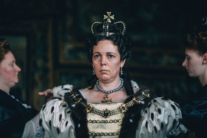 Olivia Colman in The Favourite.