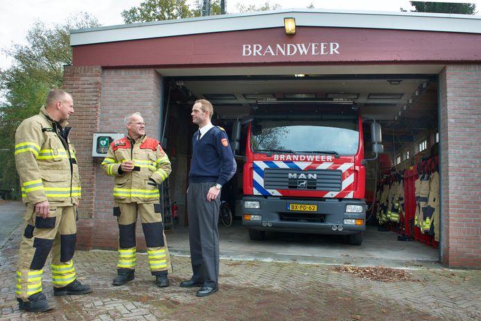 Een archieffoto van de oude brandweerkazerne in Wolfheze.