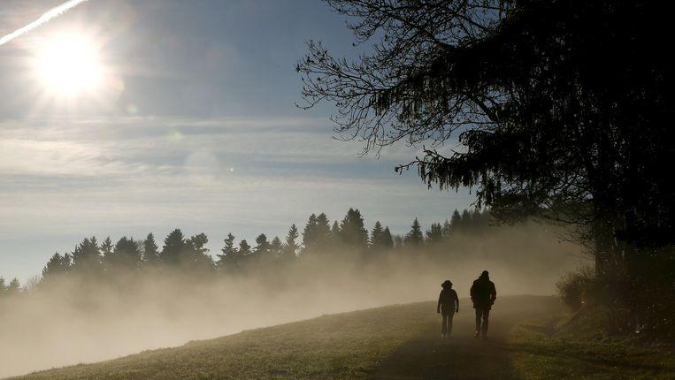 De Albiss-bergpas in Zwitserland. Leek er begin december hoop voor het klimaat, dan schetst de realiteit nu een ander beeld. Beeld REUTERS