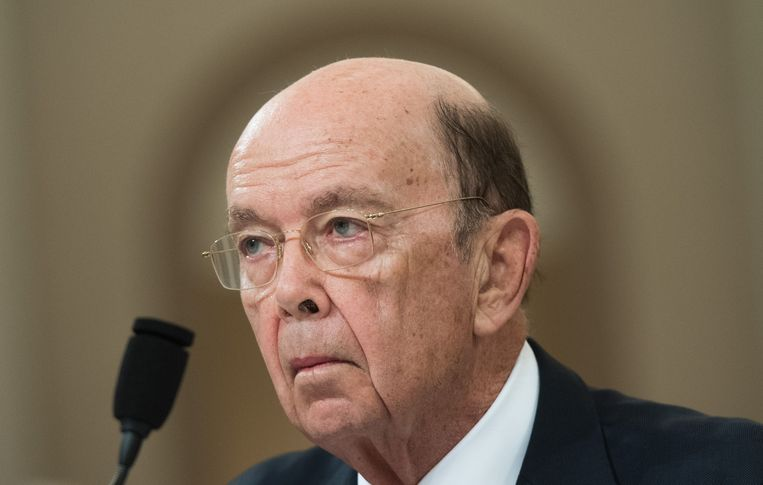 Wilbur Ross, Amerikaans minister van Handel. Beeld AFP