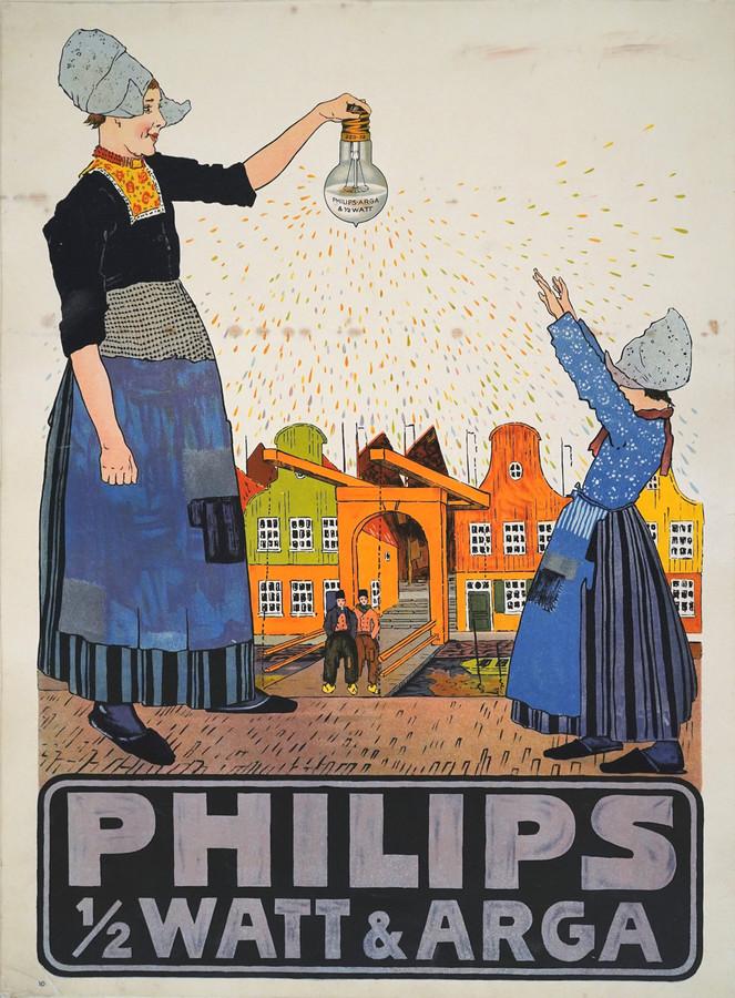 Een litho van R. Hynckes, in 1915 gemaakt in opdracht van Philips.