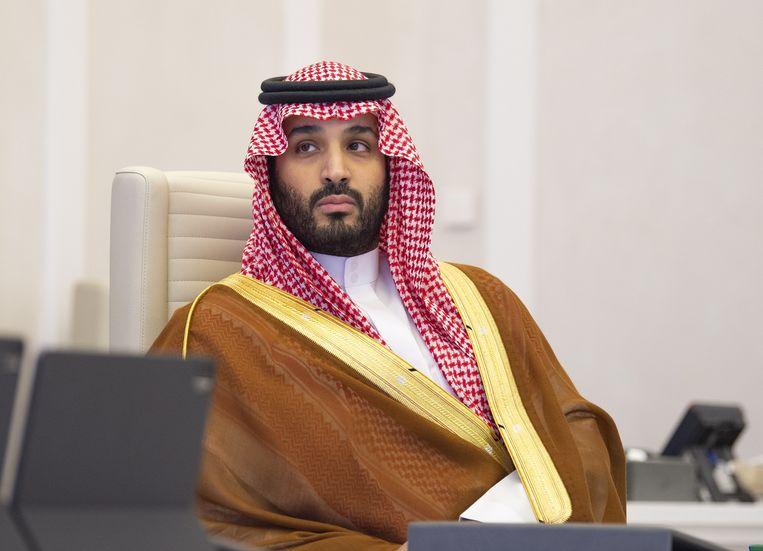 Mohammed bin Salman, de kroonprins van Saoedi-Arabië. Beeld EPA