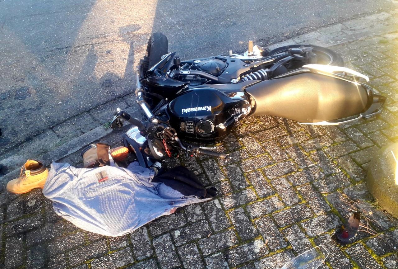 Ongeval met motor in Mol