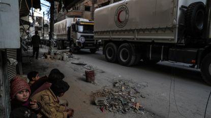 Regime-Assad plundert hulpkonvooi in Oost-Ghouta