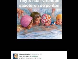 """Twitter lacht met #pontonbrug: """"Wachten tot De Wever schuld aan PS geeft"""""""