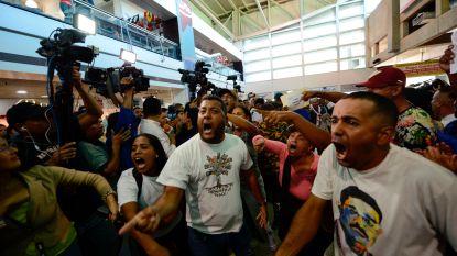 Rellen op luchthaven van Caracas voor aankomst Venezolaanse oppositieleider