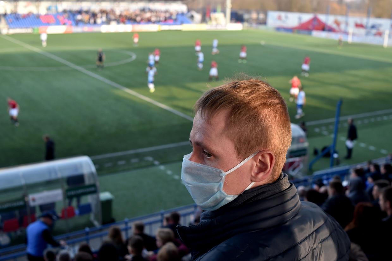 In heel Europa ligt het voetbal stil, behalve in Wit-Rusland.  Beeld AFP