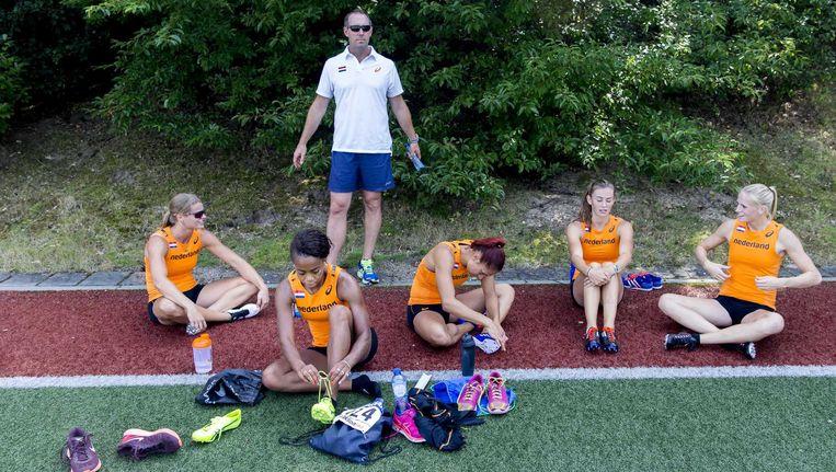 De Nederlandse ploeg in voorbereiding op het WK in Peking. Beeld anp
