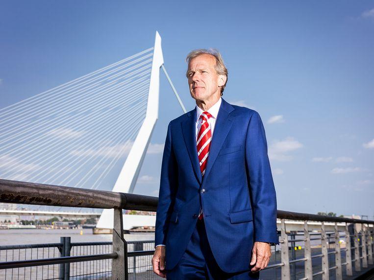 Allard Castelein, directeur van de Rotterdamse haven: 'Een overheid die accepteert dat je twee jaar in een stikstofimpasse zit, beseft niet hoe concurrerend het veld is.' Beeld Jiri Büller