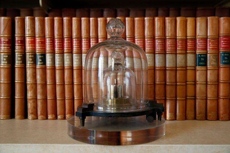 Het internationale prototype van de kilogram.