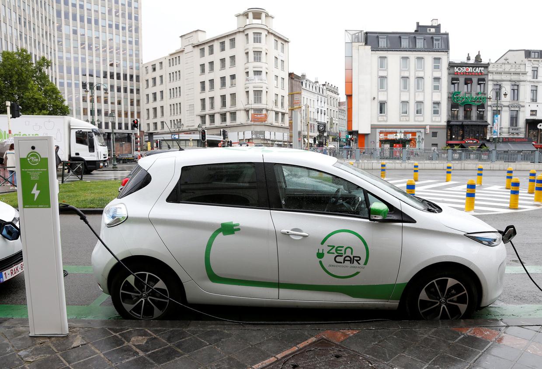 In Brussel worden de elektrische deelauto's van Zen Car wel een paar keer per dag gebruikt. Beeld REUTERS