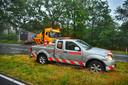 Dubbel pech voor een vrachtwagenchauffeur op de N69.