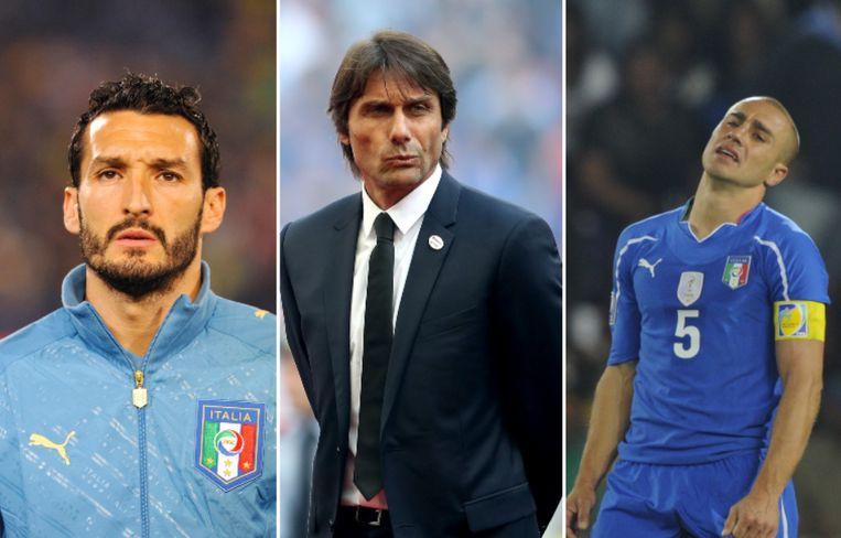 Zambrotta/Conte/Cannavaro. Beeld Photo News/AFP