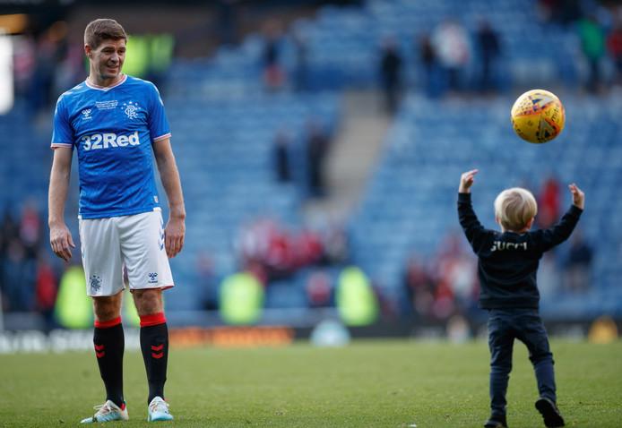 Gerrard met zijn zoontje Lio.