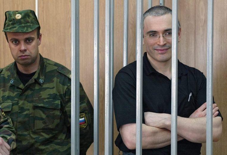 De door Poetin opzijgeschoven Michail Chodorkovski zat een celstraf van 8 jaar uit. Hij woont sinds 2013 in de VS. Beeld anp