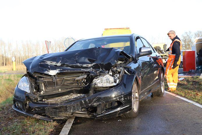 Ongeluk op N618 bij Sint-Oedenrode.