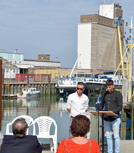 Herdenking op zee gestorven vissers Breskens