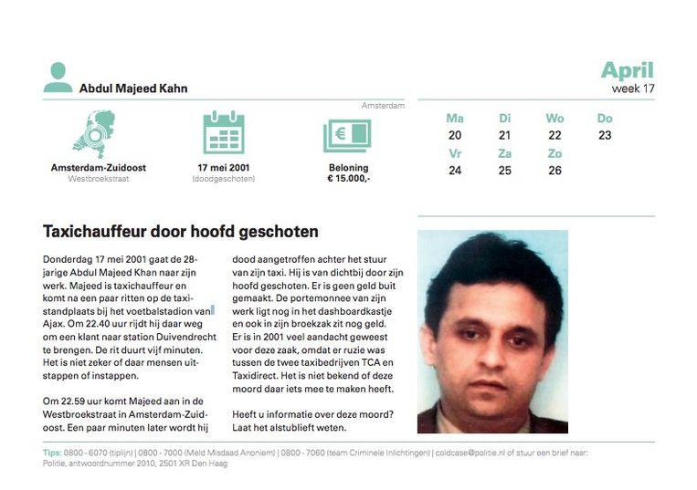 De zaak-Abdul Majeed Khan Beeld Politie