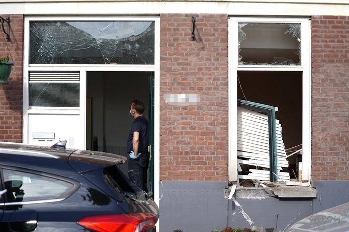 De bomaanslag op de woning aan de Jagthuisstraat had een enorme ravage tot gevolg.
