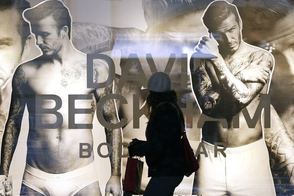 David Beckham in een onderbroekencampagne voor H&M.