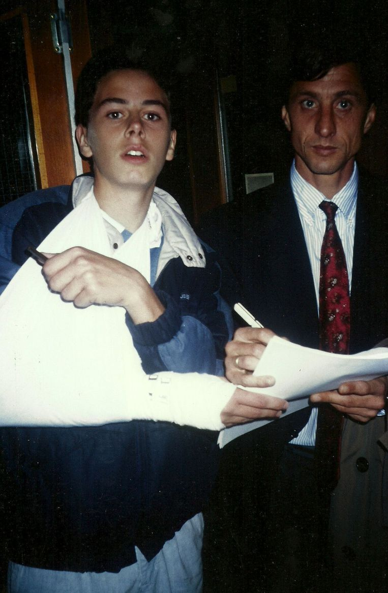 Roberto Pennino en Johan Cruijff. Beeld Eigen foto