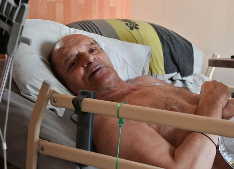 Alain Cocq in augustus vorig jaar in zijn flat in Dijon, Frankrijk. Beeld AFP