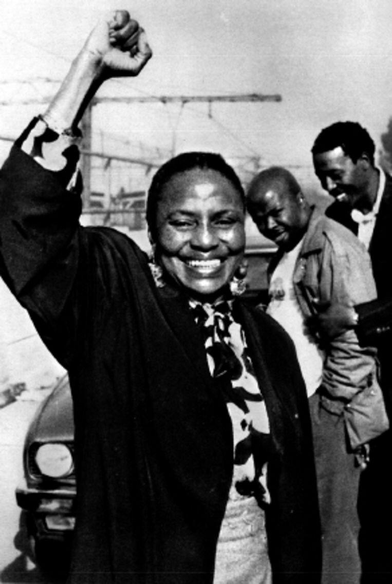 10 juni 1990: Makeba terug in Zuid-Afrika. (FOTO TROUW-ARCHIEF/SPAARNESTAD ) Beeld