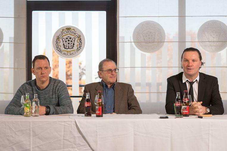 Performance coach Werner Martens, voorzitter Louis De Vries en Stijn Vreven.