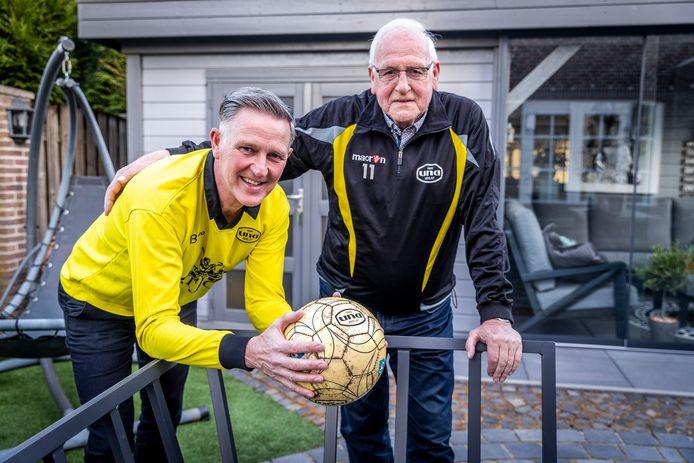 Vader Frans en zoon Frank Weijers scoren hoog in de verkiezing van het beste UNA-team aller tijden.
